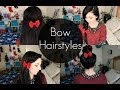 4 Quick Hairstyles with BOWS!