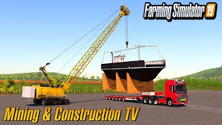 How To Load And Trasport The Ferry Mining And Construction Map Farming Simulator 2019