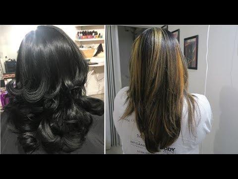 Balayage Highlights On Black Hair Hair Color Tutorial