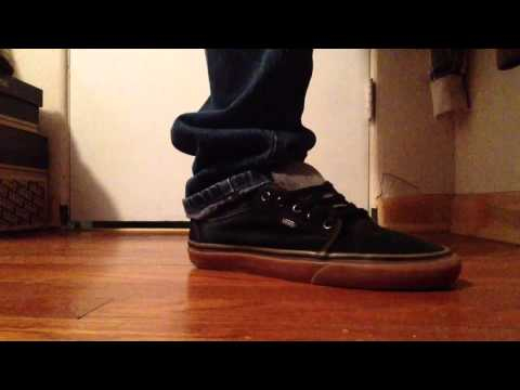 6 Vans off the wall chukka low custom denim tongue on feet