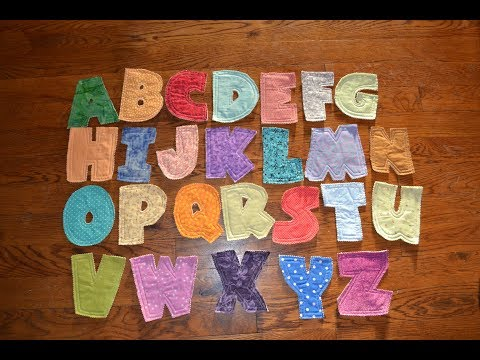 EPISODE 71 ~ Quilted Fabric Letters Tutorial