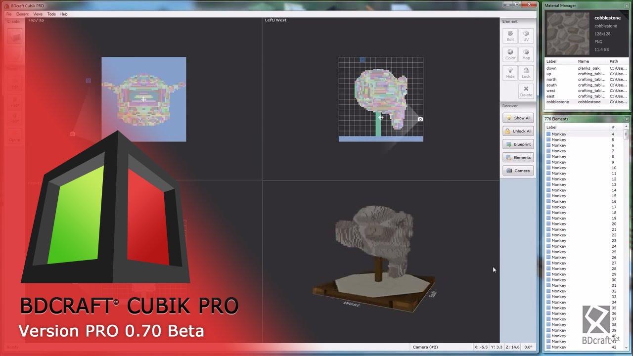 BDcraft Cubik PRO - Tutorial #4 - Custom Model from OBJ import!