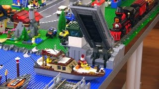 Working LEGO train drawbridge  🚂