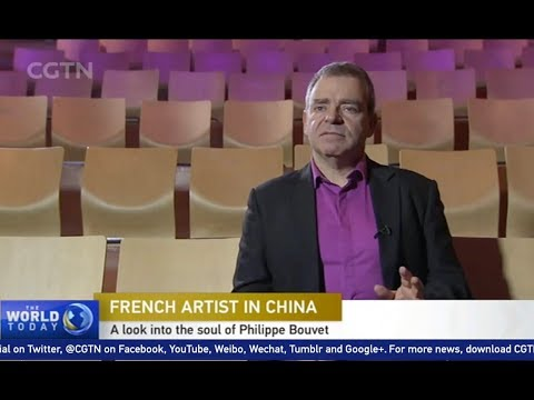 """""""A look into the soul of a French Artist in China"""", interview of Philippe Bouvet for CCTV 9"""