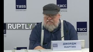 LIVE  GoT author George R  R  Martin talks in St Petersburg