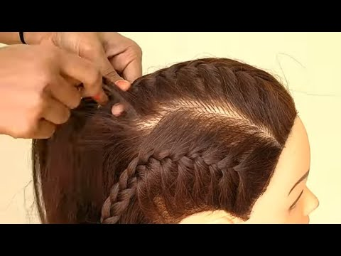 Diy - Awesome Easy Hairstyle For Party    New Party Hairstyle For Medium Hair thumbnail