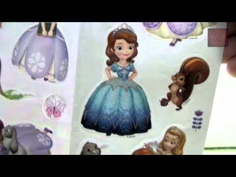 รีวิวของเล่น ชุดสมุดภาพระบายสีเจ้าหญิงโซเฟีย-กับสติกเกอร์  (Toys Review)