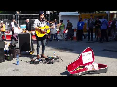 Sam Brittian busking on grafton street in dublin! Amazing talent from Australia!!
