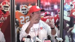 TigerNet.com - Dabo Swinney previews spring, talks Deon Cain