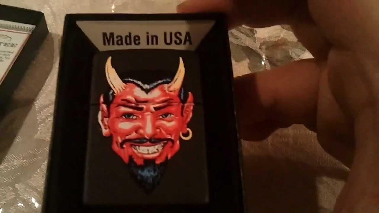 devil zippo lighter