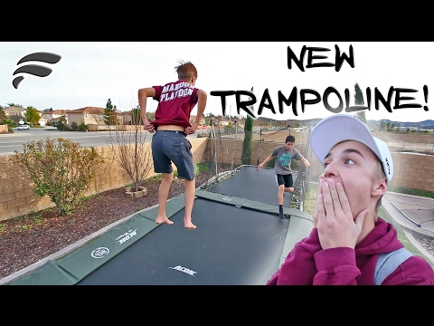 HIS OWN BACKYARD TRAMPOLINE PARK!