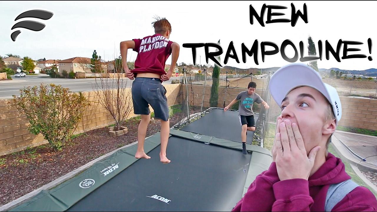 his own backyard trampoline park youtube