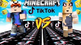 SZALONY WYŚCIG! - TIK TOK LUCKY BLOCKI MINECRAFT! (Lucky Block Race) | Vito vs Bella