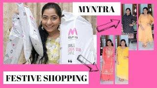 Festive Kurta Shopping from MYNTRA