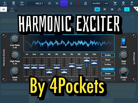 HARMONIC EXCITER AUv3 by 4Pockets - Demo for the iPad