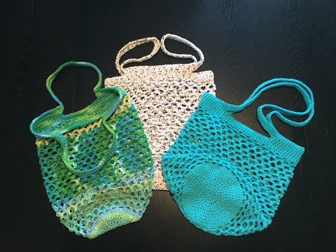 HOW TO - CROCHET A NET MARKET BAG - FULL TUTORIAL & PATTERN