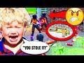 Troll STEALS Legendary Scar from Little Kid! 😭 (Fortnite Funny Trolling Moments)