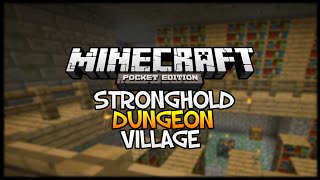 dungeon in stronghold minecraft pocket edition village seed showcase w end portal