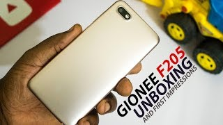 Gionee F205 Unboxing and First Impressions