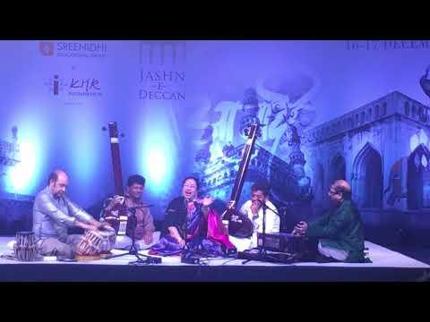 Hume tumse pyar kitna - live - Parveen sultana - jashn e Deccan