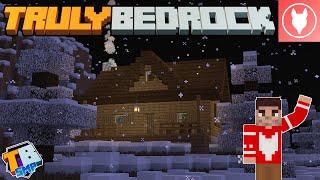 Truly Bedrock S2 : E22? - Making a Cozy Winter Cabin! (w/ Redstone Fireplace)