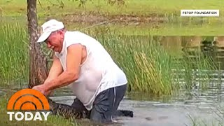 Video Shows Florida Man Rescuing His Puppy From Alligator Attack | TODAY