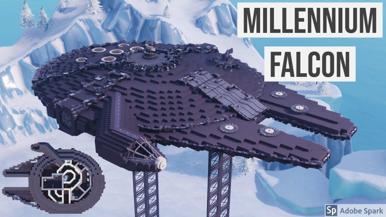 Millennium Falcon Includes Full Interior Built In Fortnite