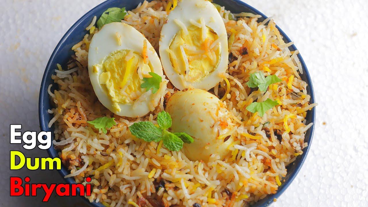 ఎంతో ఈసీ ఎగ్ ధం బిర్యానీ    How to make Hyderabadi Egg Dum Biryani at home in Telugu  @Vismai Food