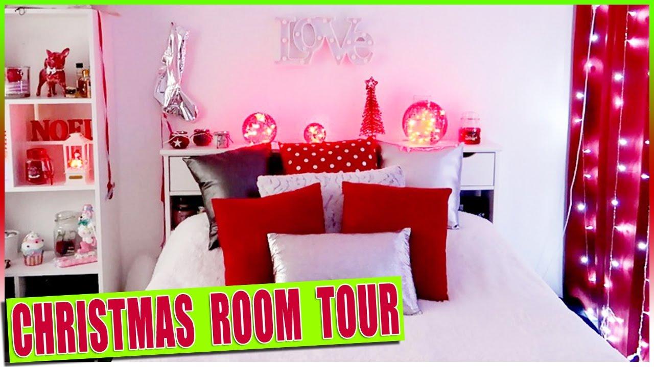 christmas room tour d co de no l de la chambre room. Black Bedroom Furniture Sets. Home Design Ideas