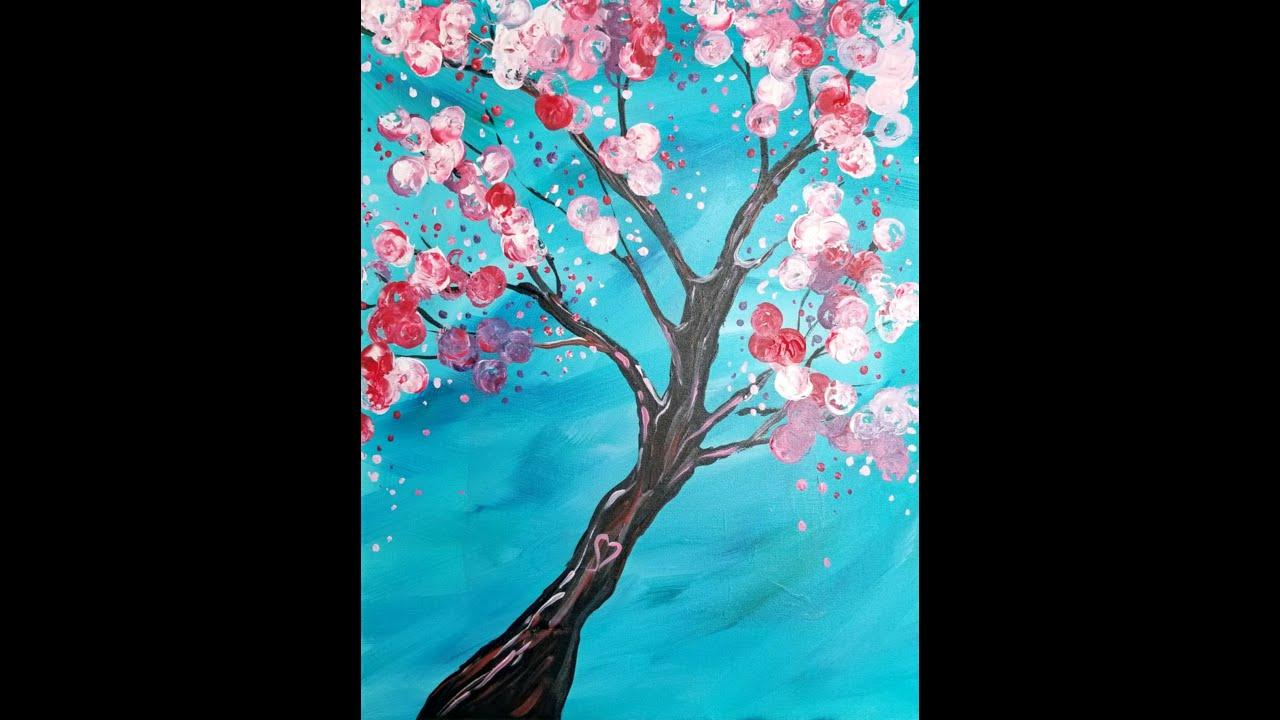 Cherry Blossom Wine Cork Panting