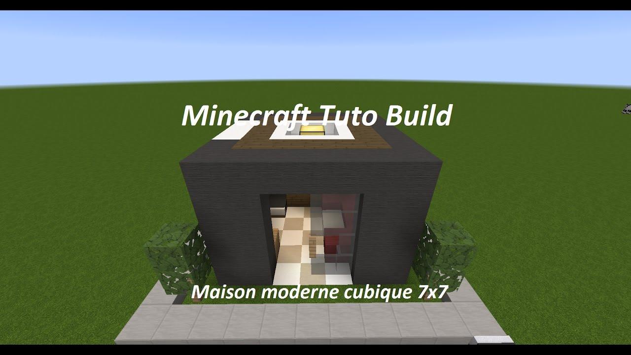 Minecraft Tuto Build - MAISON MODERNE CUBIQUE 7x7