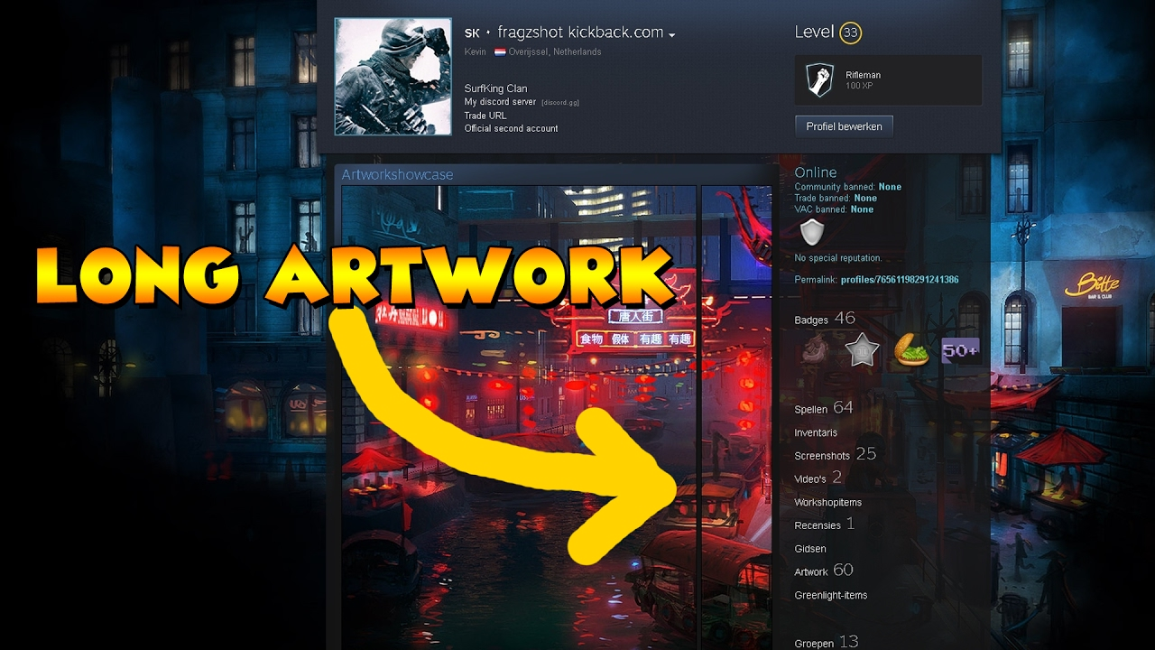 Steam Profile Design Template
