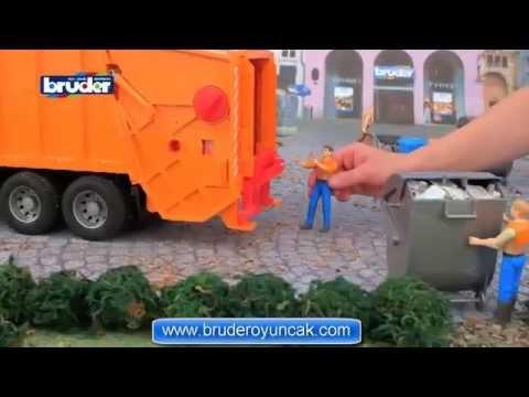 Bruder Scania R-Serisi Çöp Kamyonu - Turuncu 03560