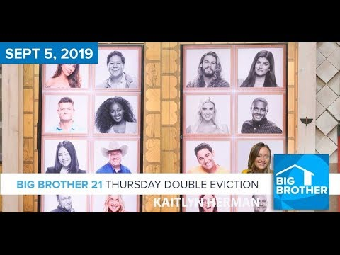 Big Brother 21 Thursday Night Sept 5 DOUBLE Eviction Recap #BB21