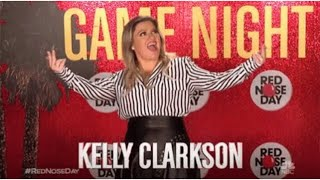Kelly Clarkson on Hollywood Game Night Red Nose Day Special 2019