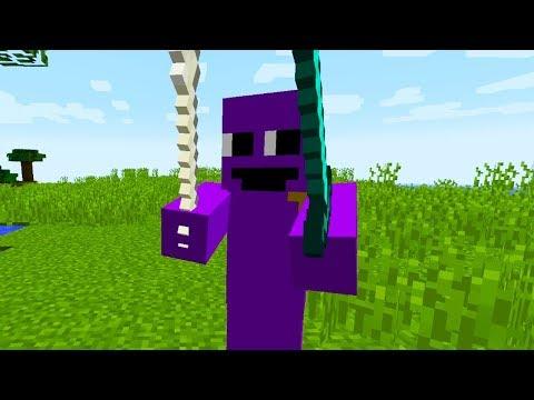 PURPLE GUY EN MINECRAFT! Minecraft 1.12.2 MOD PURPLE GUY!