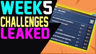 Fortnite WEEK 5 CHALLENGES LEAKED Season 5 ALL 7 Challenges GUIDE Battle Pass Challenges