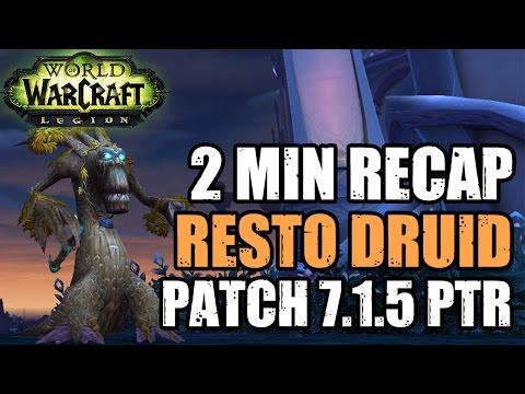 2 MIN 7.1.5 RESTO DRUID RECAP - Resto Druid Class Changes