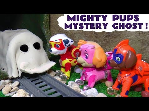 Paw Patrol Mighty Pups Mystery Ghost Spooky Challenge Halloween Game Family Friendly Full Episode