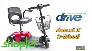 Drive Medical   Bobcat X 3 Wheel Scooter