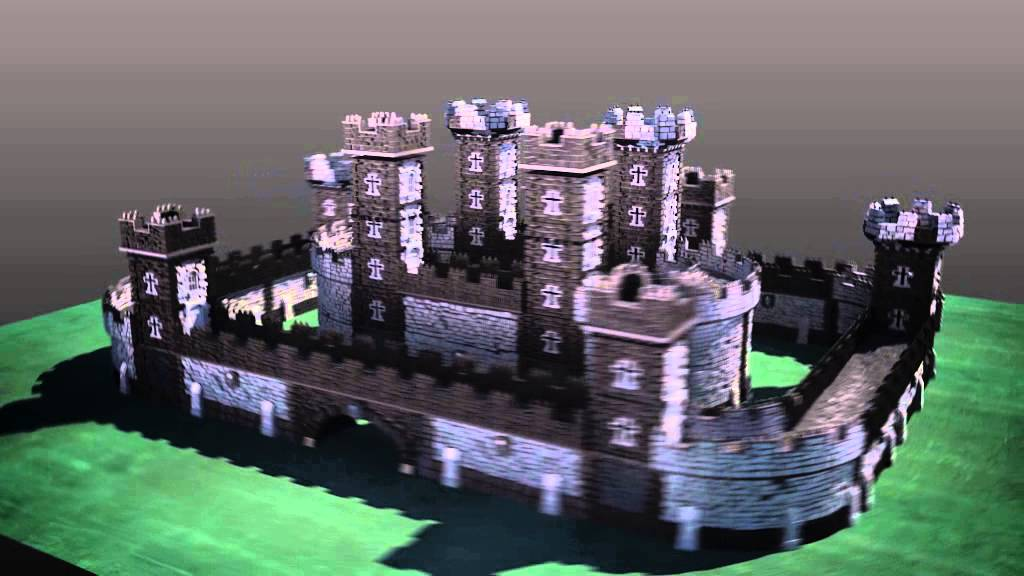 photo about Printable Scenery identify Winterdale 3D Printable Castle against Printable Landscapes