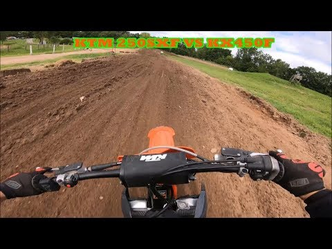 Crazy Dirt Bike Battle! | 2019 KTM 250SXF VS 2017 KX450F