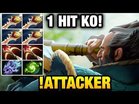 !Attacker Kunkka SUPER LATE GAME with 4 RAPIERS Dota 2