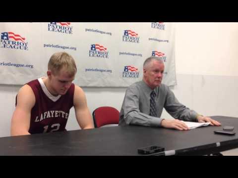 Lafayette College vs. Boston University 3-5-2014: Lafayette Post Game Press Conference