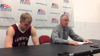 Lafayette College vs. Boston University 3-5-2014: Lafayette Post Game Press Conference