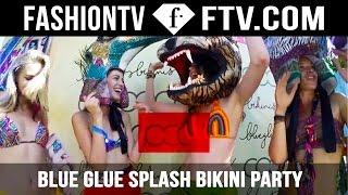 Blue Glue Splash Bikini Party Cocoon | FashionTV