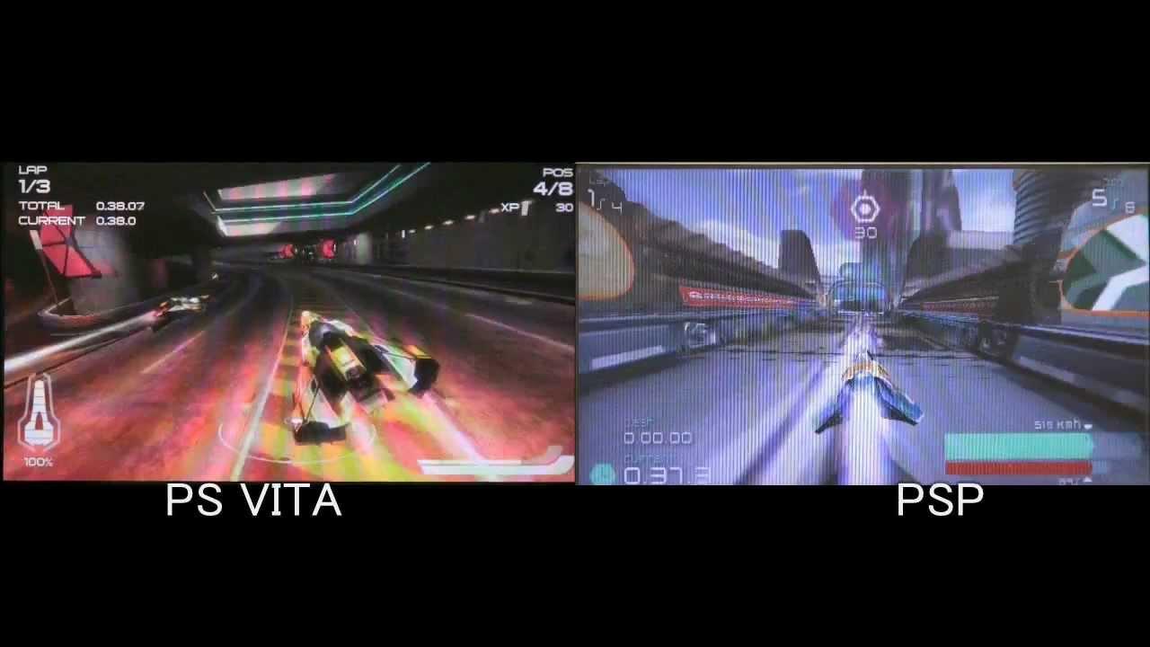 Wipeout 2048 PS VITA VS Wipeout PULSE PSP - Graphics Comparison
