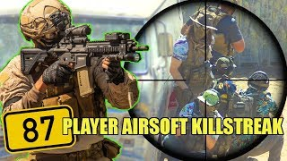 MASSIVE 87 AIRSOFT Player KILLSTREAK | Airsoft Nation (HK416A5, Glock 17, Master Mike Grenade)