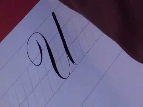 How To Write Copperplate The Letters U And