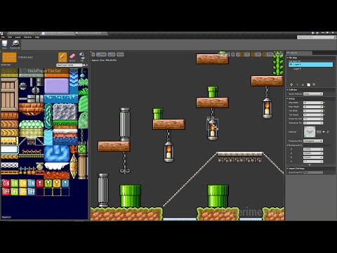 Unreal Engine 4 7 - Paper 2D Creating and Editing Tilemaps